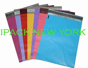 350 10x13 Mixed Color Mailers Poly Shipping Envelopes Bags 50 Pcs color