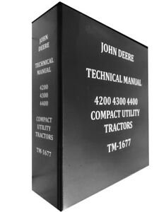 4200 John Deere Technical Service Shop Repair Dealer Manual Huge Book