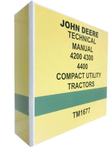 4300 John Deere Technical Service Shop Manual Repair Book 742 Pages
