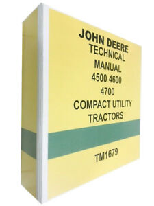 4600 John Deere Technical Service Shop Manual Repair Book 722 Pages