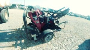 2014 Toro Trx 20 Walk Behind Trencher With Trailer Track Skid Steer Trenche Used