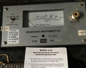Delmhorst Instrument Moisture Detector For Wood G 30