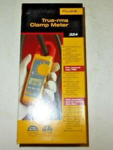 New Retail Fluke True Rms Clamp Meter Model 324 4152637 Electric Fluke 324 Case