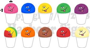 10 4 x 6 Each Shave Shaved Ice Snow Cone Decal Concession Food Truck