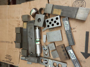 Pile Of Gage Gauges Machinist Tooling Setup Blocks Standards