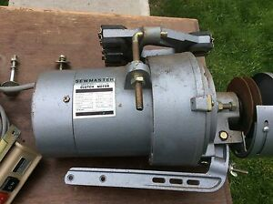 Sewmaster Clutch Motor 1 2hp 1425 1725 Rpm 115v With Motor Start stop Switch