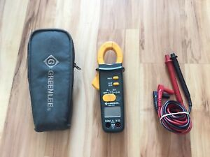 Greenlee Cm 410 400 amp Durable Ac Audible Data Clamp on Meter