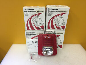 System Sensor P1224mc lot Of 4 Spectralert Series 12 24 V Horn Strobe New