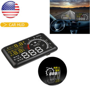 5 5 Car Hud Head Up Eu Obd Obd2 Speed Km H Mph Rpm Display System Fast Ship