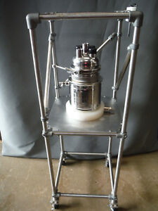 Alloy Products Corp Stainless Steel Jacketed Reactor Vessel 3l 114659 001
