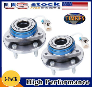 Timken Set 2 Front Wheel Hub Bearing Assembly For Chevy Pontiac W Abs 513121