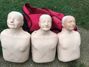 3 Laerdal Adult Anne Cpr Manikin With Carrying Case