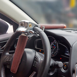 Foldable Car Vehicle Steering Wheel Lock Anti theft Lock With Safety Hammer Us