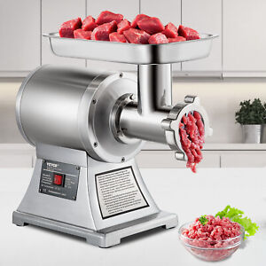 Commercial 1 5hp Electric Meat Grinder 1100w Stainless Steel Meat Mincer