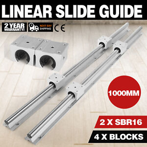 Sbr16 1000mm 2 X Linear Rail 4 X Bearing Blocks Slide Guide Routers Mills Lathes