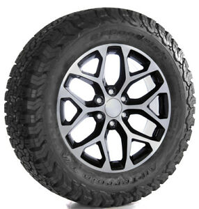 Chevy Silverado Tahoe Ltz 20 Black Machine Snowflake Wheels Rims Bfg At Tires