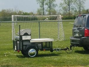Grill On Trailer Bbq Grill Southern Indiana Sports Tailgate Food Vending