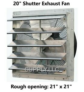Commercial Wall Mount Shutter Exhaust Fan 20 Workshop Garage Barn Storage Shed