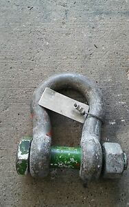 Holland Wll 12 T X 1 1 4 Screw Pin Shackle Clevis Hardly Used