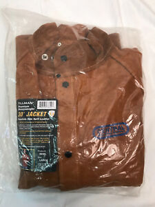 Tillman 3830 Large Brown Leather Welding Jacket 3830l