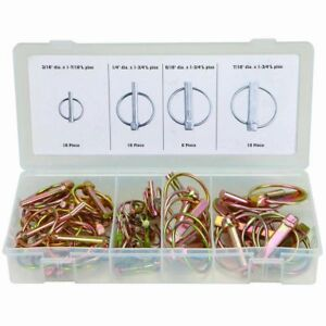 Lynch Hitch Pin Clevis Linch Retainer Fasteners Steel 50 Piece Assortment 67544