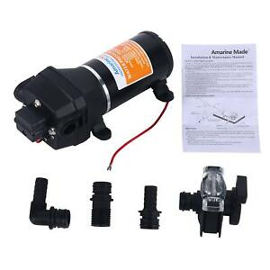 12v High Pressure Water Pump 4 5gpm 17l M 40psi Motor Home Caravan Boat Yacht Rv