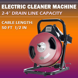 Drain Cleaner Machine Electric Drain Auger Drain Cleaner Machine 50ft 1 2