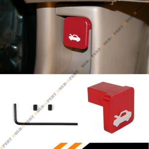 For Honda Civic Cr V Element Ridgeline Hood Release Latch Handle Knob Opener Red