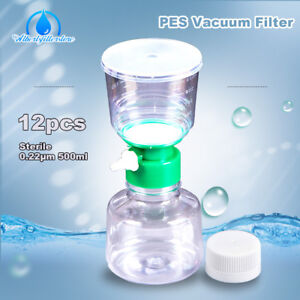 500 Ml Sterile Vacuum Filter Cup 0 22 m Pes Storage Bottle With Cap 12pk case