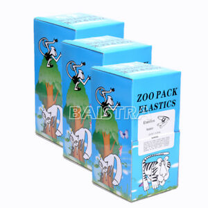 3x Dental Elastic Rubber Band 3 5oz 3 16 Rabbit Zoo Pack 5000pcs box