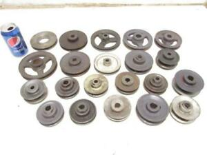 Lot Of 21 V belt Single Sheave Groove Motor Pulley 3 5 1 2 Pulleys