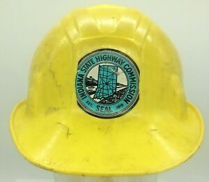Vintage Apex Poly Guard Hard Hat Indiana State Highway Commission Seat Sticker