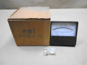 New Api 53 0832 0000 Analog Panel Meter 0 50 Microamperes Dc Model 503