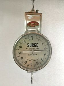 Babson Surge Hanging Weigh Scale Stainless Steel New In Box 1960s