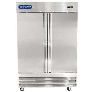 New Coolfront Two Door Upright Commercial Stainless Steel Freezer 47 Cu ft