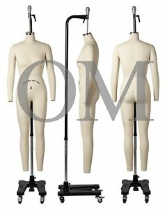 Professional Female Full Body Mannequin Dress Form W arms Size 6 wfcs 6 2