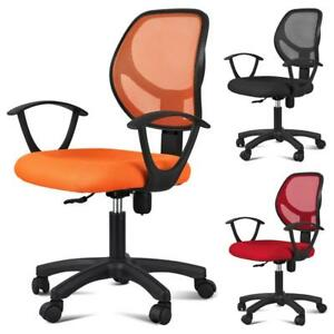 Adjustable Ergonomic Swivel Computer Office Desk Midback Task Mesh Chair Colors