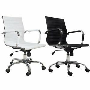 Computer Swivel Chair Home Office Adjustable Desk Seat Executive Armchair Modern