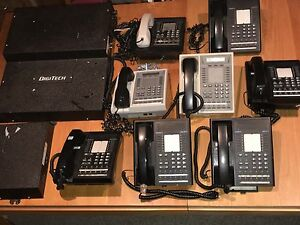 Comdial Digitech Digital Speakerphone System With 8 Telephones 7714x fb 7714s fb