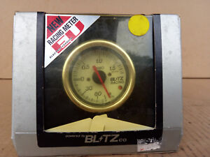 Blitz Racing Meter Ev Boost Gauge Meter 52 mm Oem Jdm Pn19707 White