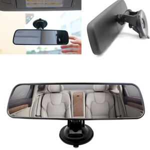 Universal Car Auto Wide Flat Interior Rear View Mirror Suction Clip On Rearview