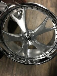 24 Inch Forgiato Forcella 3 Piece Brush Face Old School Older Bmw 5x120