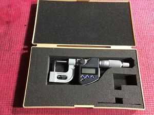 excellent Mitutoyo 0 1 Digital Ip65 Pipe Wall Outside Micrometer 00005