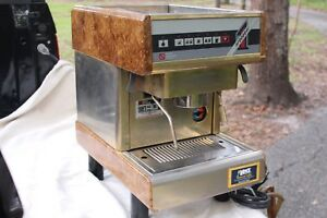 Nuova Simonelli Espresso Tiffany Oro 49605 1500 Watt Commercial Coffee Burl Wood