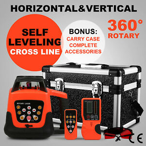 Auto Self leveling Horizontal Vertical Rotary Laser Level Kit 500m