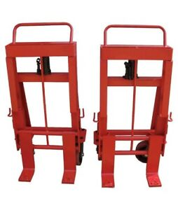 2 Dayton Machinery Mover Hand Truck 10 000 Lb Steel 4 Rollers 13v420 13v421