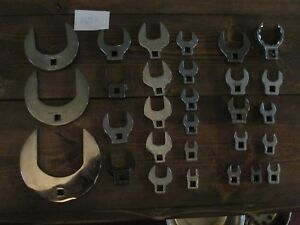 Snap On 29 Piece Sae Open End Crowfoot Wrench Set 3 8 Drive