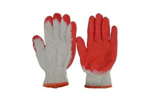 Red Latex Rubber Palm Coated Working Gloves 100 Pairs
