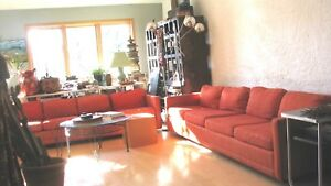 Mid Century Sofa Orange By Flair 8 And 9