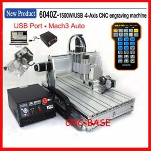 Sales Usa usb 4 Axis 6040 Cnc Router 1500w Engraver Engraving Milling Machine